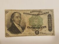 1873 50 CENTS FRACTIONAL CURRENCY NOTE 4TH ISSUE GREEN SEAL FR 1379 NICE
