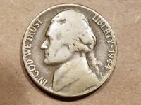 1944 HENNING NO P NICKEL NON SILVER WAR 5 CENTS NO MINT MARK COIN NICE
