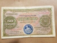 1914 PORTUGUESE MOZAMBIQUE 50 CENTAVOS NOTE COLONIAL WORLD WAR 1 RELIC P 61