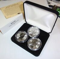 3 PIECE 2018 SILVER MAPLE LEAF 30TH ANNIVERSARY SET WESTMINSTER MINT CASE & COA