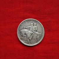 UNITED STATES 1925 HALF DOLLAR 0.50 STONE MOUTAIN US 90  SIL