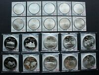 CANADA OLYMPIC STERLING SILVER COIN LOT: 20 COINS 1973   197