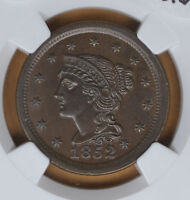 1852 LARGE CENT NICE NGC MS63BN