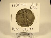 WOW  1938 D LIBERTY WALKING HALF DOLLAR COIN COLLECTION LOT