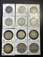 CANADA COIN LOT   10 SILVER HALF DOLLARS AND 2 SILVER DOLLAR