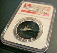 2014 NGC PF 69 MATTE RMS EMPRESS OF IRELAND SILVERED EARLY RELEASES 50C
