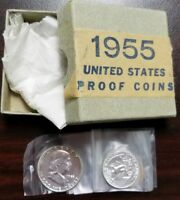 1955 U.S. MINT 5 COIN PROOF SET IN ORIGINAL GOVERNMENT BOX