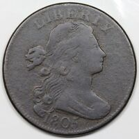 1805 DRAPED BUST LARGE CENT F DETAIL