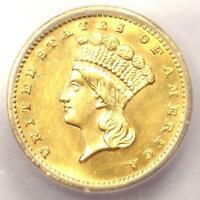1888 INDIAN GOLD DOLLAR COIN G$1 - CERTIFIED ICG MINT STATE 63 BU - $748 VALUE