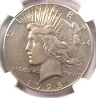 1928 PEACE SILVER DOLLAR $1 - NGC EXTRA FINE  DETAILS EF -  1928-P KEY DATE COIN