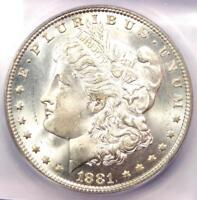 1881 MORGAN SILVER DOLLAR $1 1881-P - ICG MINT STATE 66 -  IN MINT STATE 66 - $1940 VALUE