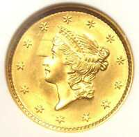 1852 LIBERTY GOLD DOLLAR COIN G$1 - ANACS UNCIRCULATED UNC -  MS BU COIN