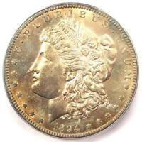 1894-S MORGAN SILVER DOLLAR $1 - CERTIFIED ICG MINT STATE 62 BU UNC - $1,240 VALUE