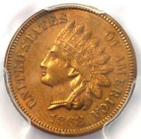 1868 INDIAN CENT 1C - PCGS UNCIRCULATED DETAILS -  EARLY UNC MS BU PENNY