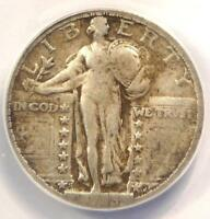 1923-S STANDING LIBERTY QUARTER 25C COIN - ANACS F15 DETAILS -  DATE