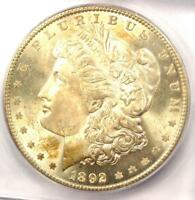 1892 MORGAN SILVER DOLLAR $1 - ICG MINT STATE 64 -  DATE IN MINT STATE 64 - $1,310 VALUE