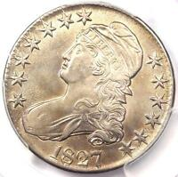 1827 CAPPED BUST HALF DOLLAR 50C COIN - PCGS UNCIRCULATED DETAILS BU MS UNC