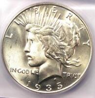 1935-S PEACE SILVER DOLLAR $1 COIN - ICG MINT STATE 65 PQ PLUS GRADE - $1,410 VALUE