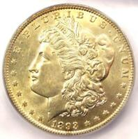 1893 MORGAN SILVER DOLLAR $1 COIN - ICG MINT STATE 63 -  IN MINT STATE 63 - $1,630 VALUE