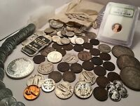 OLD US COIN COLLECTION 1800'S COINS BU 90  SILVER COINS .999 SILVER 60  COINS