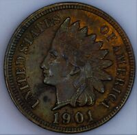 1901 INDIAN CENT UNC SOME RED REMAINING