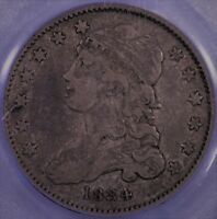1834 BUST QUARTER PCGS GRADED VF20 CAC
