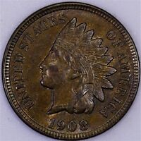 1908 INDIAN CENT CHOICE/GEM BU BROWN