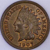 1907 INDIAN CENT BU BROWN