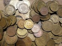 1 POUND OF COINS FROM GERMANY ONE LB GERMAN LOT MARKS PFENNIG STOCKING STUFFER