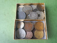 50  LOT OF VARIOUS FOREIGN COINS INCLUDES 1800S AND SILVER C