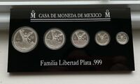 PROOF SILVER MEXICO LIBERTAD 1994 SET 5 COINS ONLY 5002 MINT