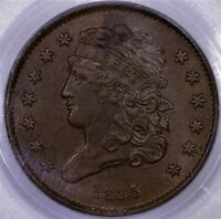 1835 HALF CENT PCGS OGH MS 63