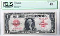 FR. 40 1923 $1 LEGAL TENDER RED SEAL UNITED STATES NOTE PCGS EXTRA FINE 40 EF