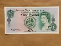 1983 ISLE OF MAN 1 POUND BANKNOTE UK BRITISH NOTE P 38 CRISP UNCIRCULATED