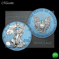 SPACE BLUE EDITION AMERICAN SILVER EAGLE 2019 USA 1 OZ 999 S