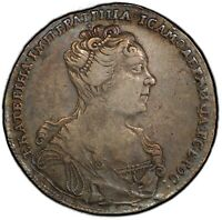 1727 RUSSIA ROUBLE CATHERINE I MOSCOW TYPE PCGS XF40 NICELY
