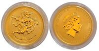 2012 AUSTRALIAN YEAR OF THE DRAGON 1/10OZ GOLD COIN GEM BU