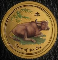 2009 AUSTRALIA LUNAR OX $ 5 1/10 OZ  .999 GOLD GEM BU PERTH