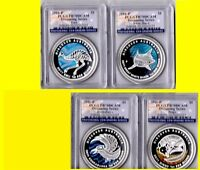 2011  AUSTRALIA 4 OZ 4 COINS COLORIZED SILVER SET PCGS PR 70