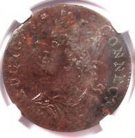 1788 DRAPED BUST LEFT CONNECTICUT COLONIAL COIN - CERTIFIED NGC EXTRA FINE 45 -