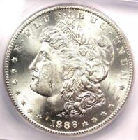 1886-S MORGAN SILVER DOLLAR $1 COIN - ICG MINT STATE 65 -  IN MINT STATE 65 - $2,160 VALUE