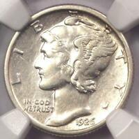 1926-S MERCURY DIME 10C COIN - CERTIFIED NGC EXTRA FINE  DETAILS -  DATE - LOOKS AU