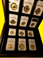 1996 2007 AUSTRALIA GOLD LUNAR SET 12 COINS 12 OZ PURE GOLD