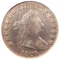 1806/5 DRAPED BUST HALF DOLLAR 50C COIN O-103 - CERTIFIED NGC VF25 - $975 VALUE