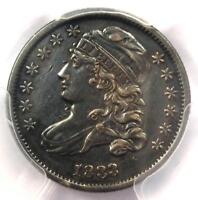 1833 CAPPED BUST DIME 10C - PCGS AU DETAILS -  EARLY DATE - CERTIFIED COIN