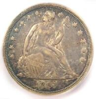 1847 SEATED LIBERTY SILVER DOLLAR $1 COIN - ICG AU50 -  - $910 VALUE