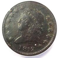 1812 CLASSIC LIBERTY LARGE CENT 1C - ANACS VF20 DETAILS -  DATE PENNY