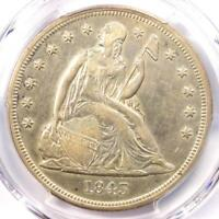 1843 SEATED LIBERTY SILVER DOLLAR $1 - PCGS EXTRA FINE  DETAILS -  COIN - LOOKS AU