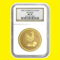 2005 CHINESE LUNAR YEAR OF THE ROOSTER NGC MS 70 AUSTRALIA 1