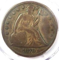 1870-CC SEATED LIBERTY DOLLAR $1 - PCGS VG DETAILS -  CARSON CITY COIN